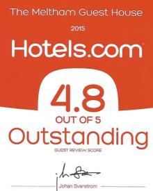 Room Ratings Award ..Outstanding 4.8/5