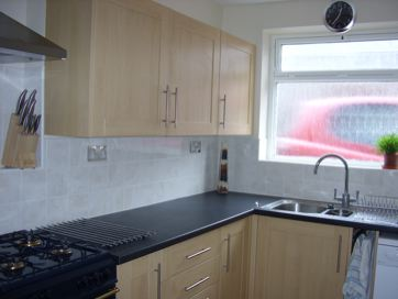 The kitchen, where we prepare your cooked breakfast at The Meltham Guesthouse Scarborough