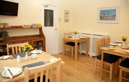 Bed and Breakfact Dining Area The Meltham Guestouse Scarborough